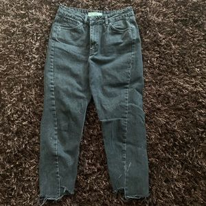 Cropped Topshop Moto Mom Jeans